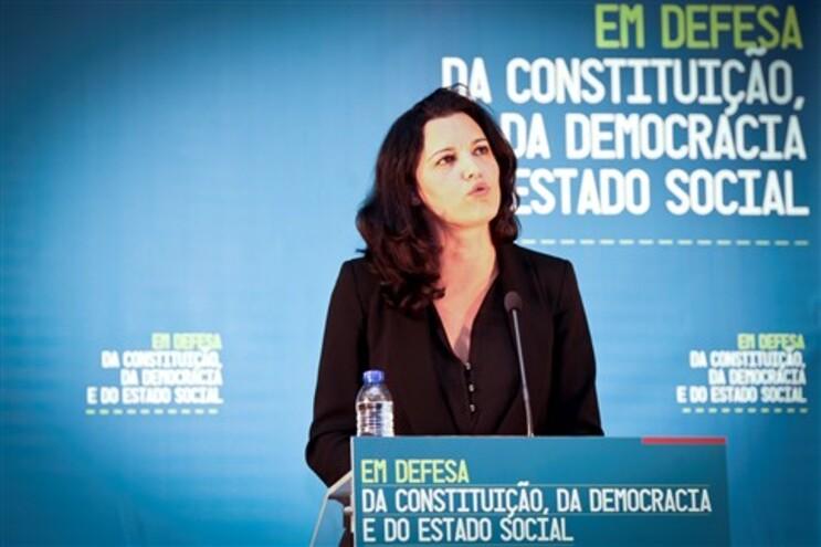 Marisa Matias, cabeça de lista do BE às eleições europeias