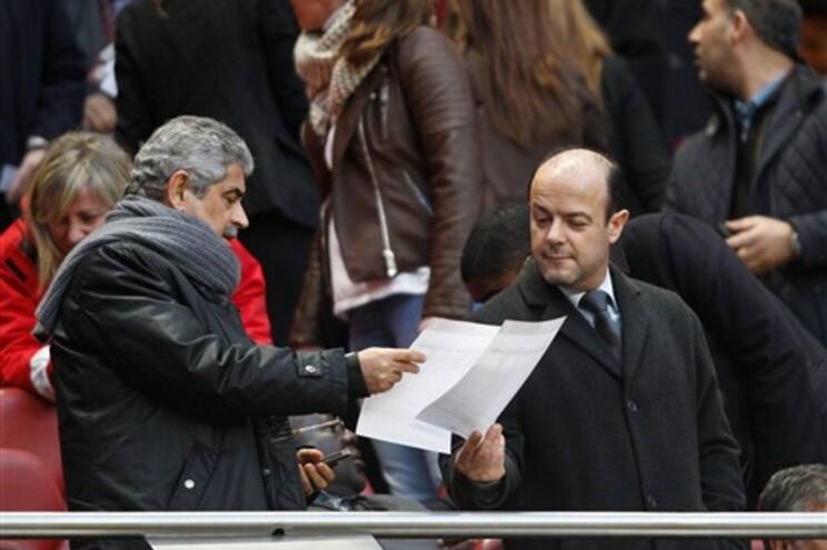 Mário Figueiredo com o presidente do Benfica, Luís Filipe Vieira