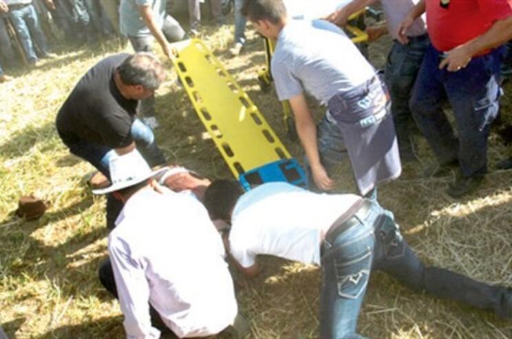 Espectador foi assistido no local e transportado ao hospital onde veio a morrer