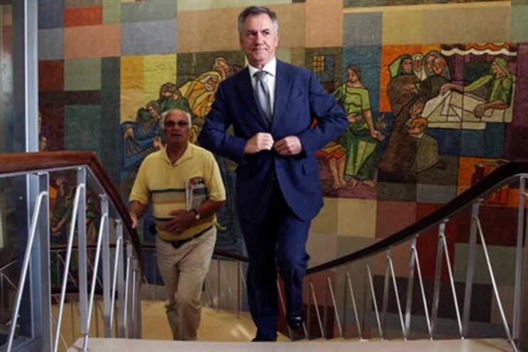 Armando Vara à chegada ao Tribunal de Aveiro