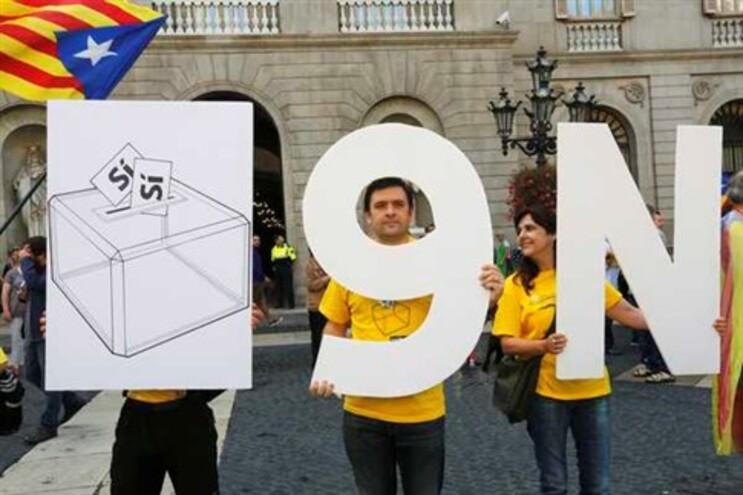 Apoiantes do referendo sobre a independência da Catalunha