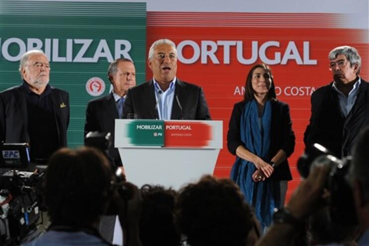 Costa esquece um terço do PS no discurso da vitória