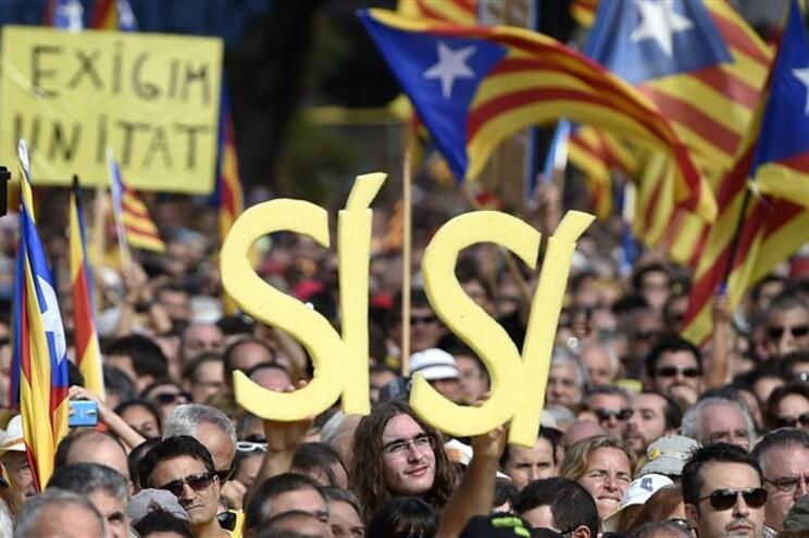 Manifestação no mês passado em Barcelona pela independência da Catalunha