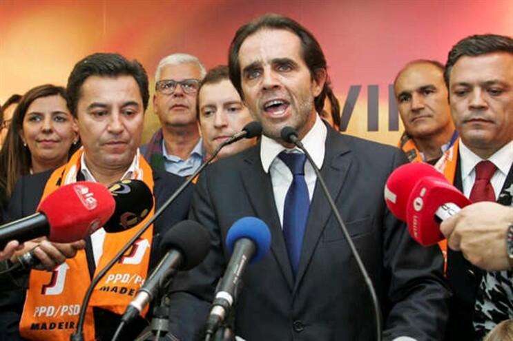 Miguel Albuquerque no discurso da vitória