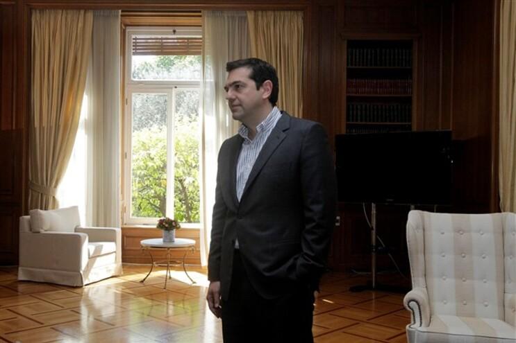 O atual primeiro-ministro grego, Alexis Tsipras