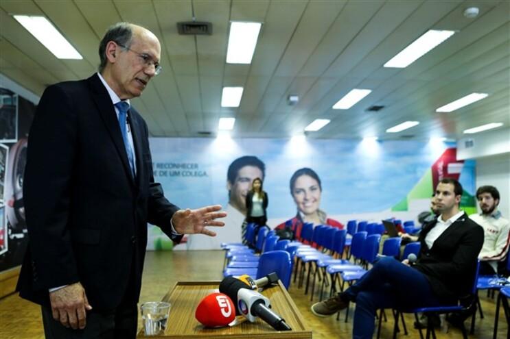 Fernando Pinto durante a conferência de imprensa desta segunda-feira