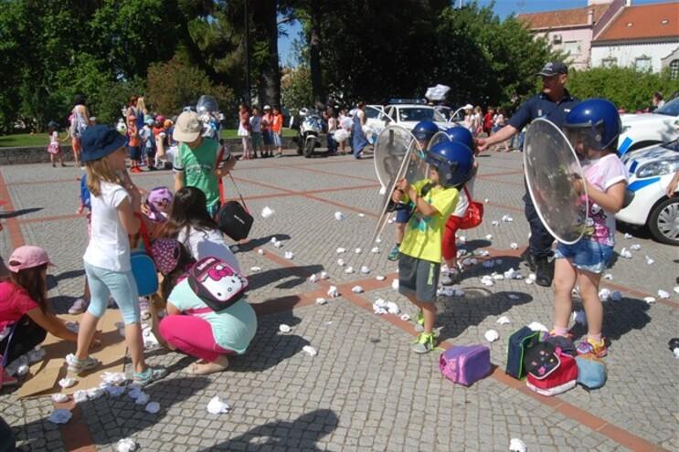 Ação da PSP com crianças em Portalegre