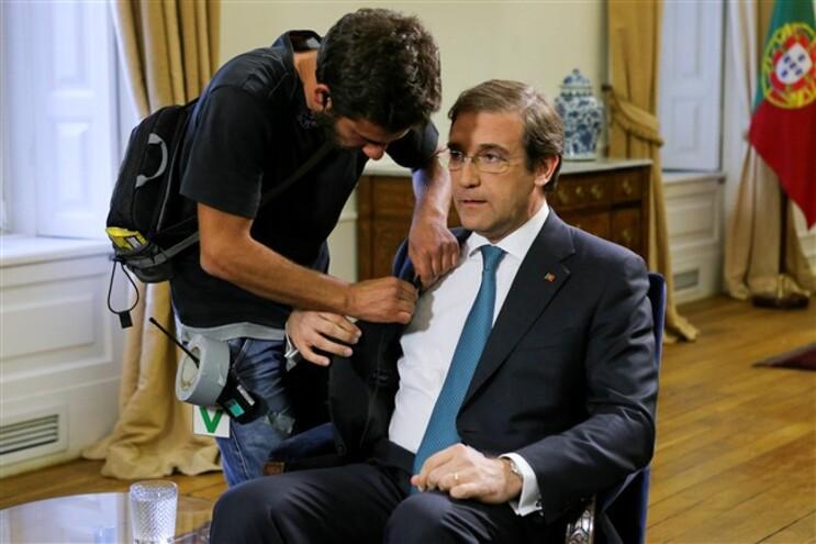 Passos Coelho antes da entrevista