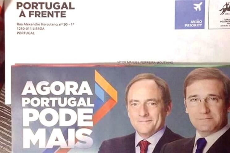 Administração eleitoral garante legalidade do envio de cartas da coligação PSD/CDS-PP