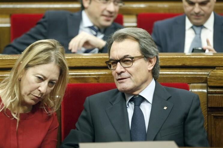 O presidente Artur Mas e a vice Neus Munte