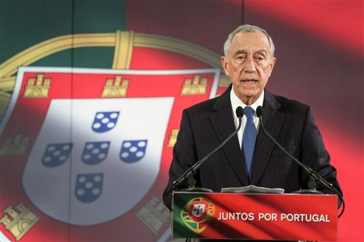 Marcelo Rebelo de Sousa, esta tarde, na inauguração da sede de candidatura