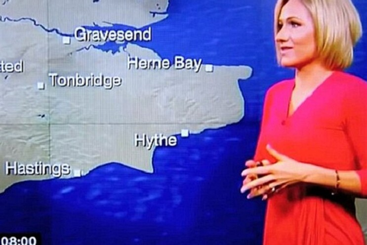 Rachel Mackley, de 33 anos, apresenta o boletim meteorológico na BBC One desde 2011