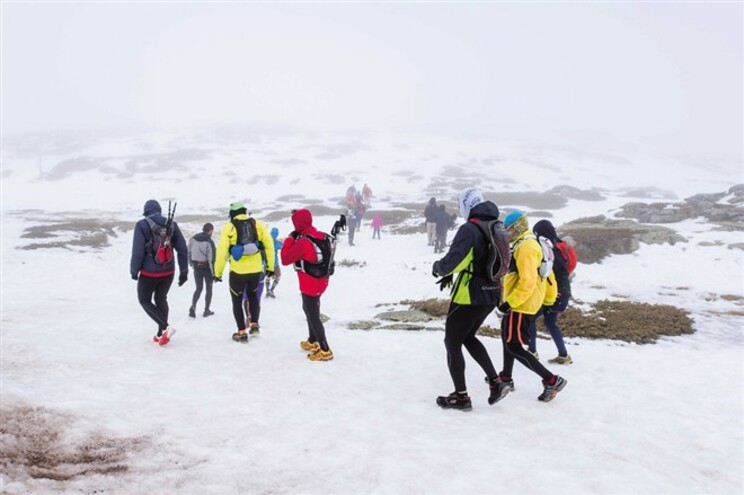 Correr na neve