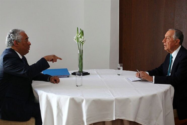 António Costa e Marcelo Rebelo de Sousa reunidos em Évora