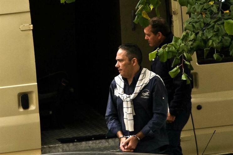Valdemar Castro quando chegava ao Tribunal de Gaia, onde começou a ser julgado