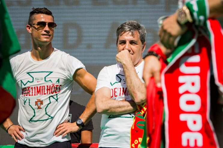 Cristiano Ronaldo e Fernando Gomes
