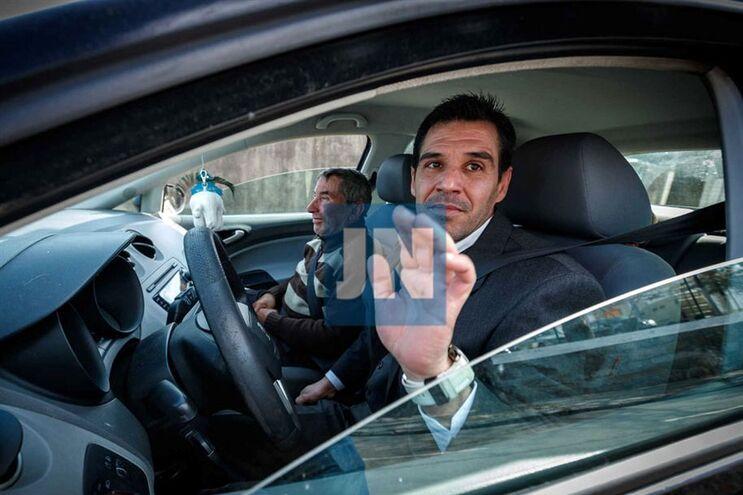 Afonso Dias, esta quarta-feira à tarde, à saída da prisão