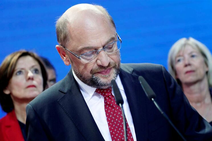 Martin Schulz na reação aos resultados das projeções
