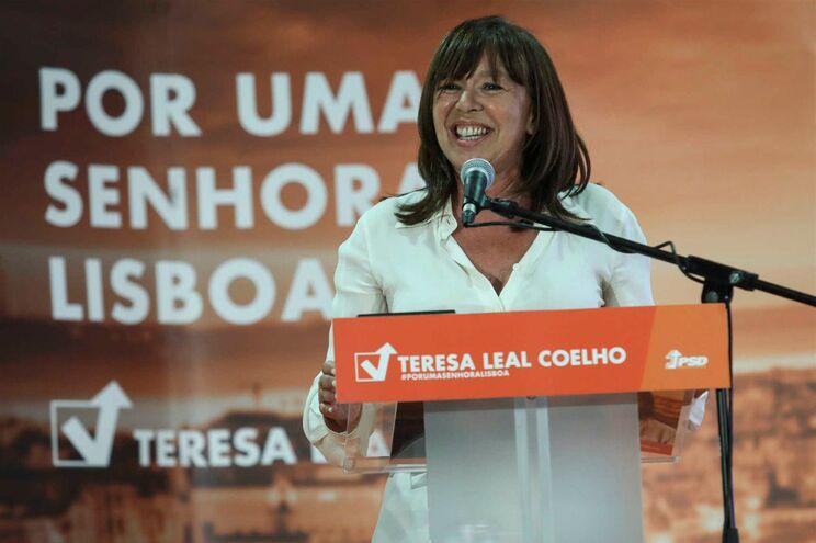 A candidata do PSD à Câmara de Lisboa, Teresa Leal Coelho, num jantar-comício