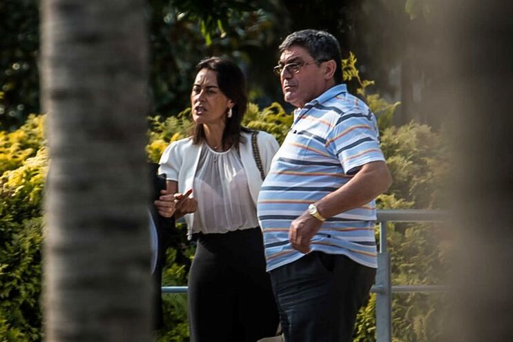 Empresário José Veloso com a advogada Paula Godinho