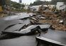 A destruição deixada pelas inundações em Albufeira