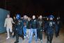 O grupo de adeptos do Guimarães que provocou os incidentes já controlado pela PSP
