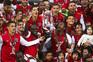 Jogadores com a Taça de Portugal, troféu que o Braga não vencia há 50 anos