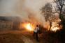 Combate ao fogo em Oteiro, S. Pedro do Sul