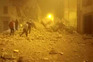 Imagem partilhada no Twitter mostra destruição em Ussita