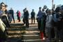 Moradores do núcleo dos Hangares rezaram antes da chegada dos elementos da Polis