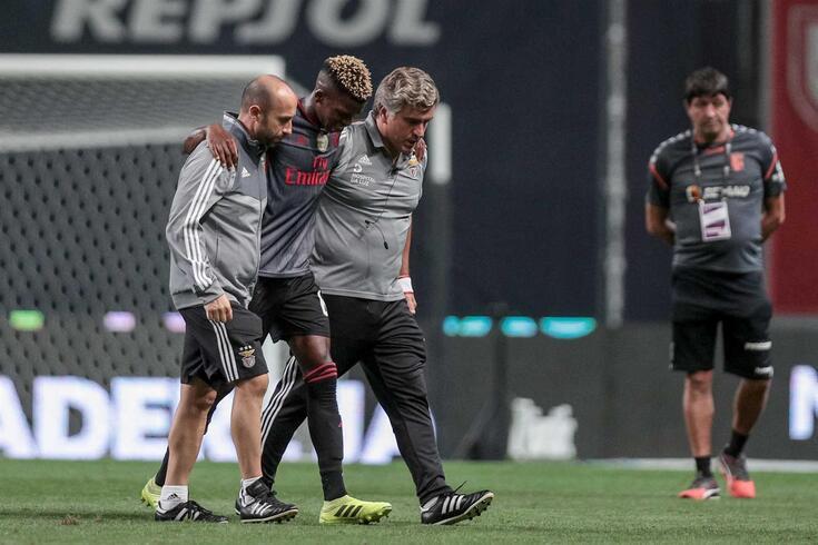 Florentino lesionou-se no encontro com o Braga