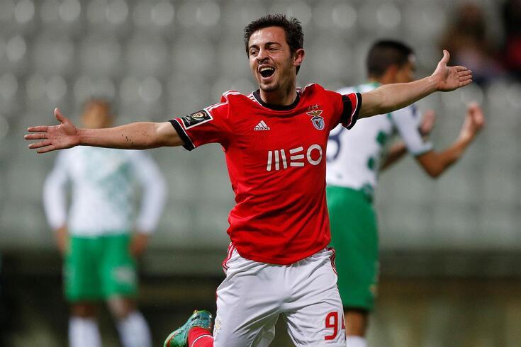 Bernardo Silva quando jogava no Benfica