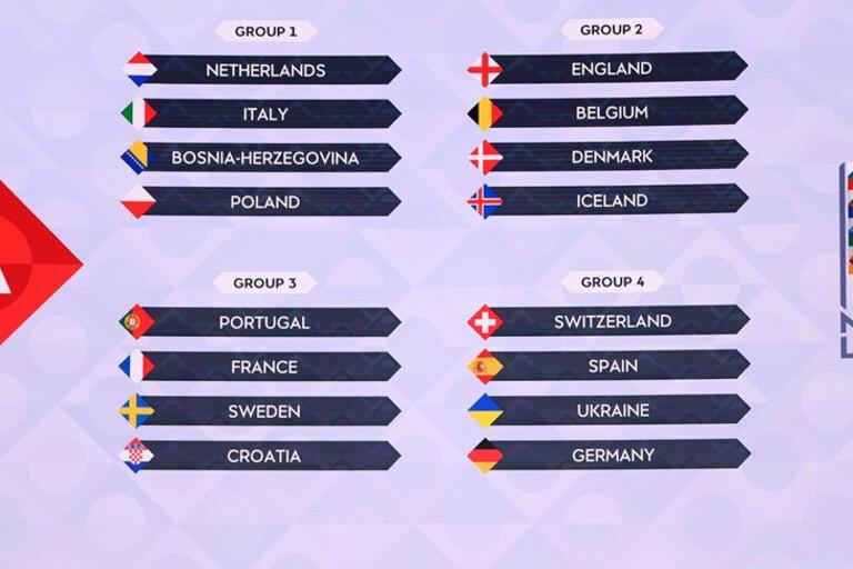 Liga Das Nacoes Composicao De Todos Os 14 Grupos O Jogo