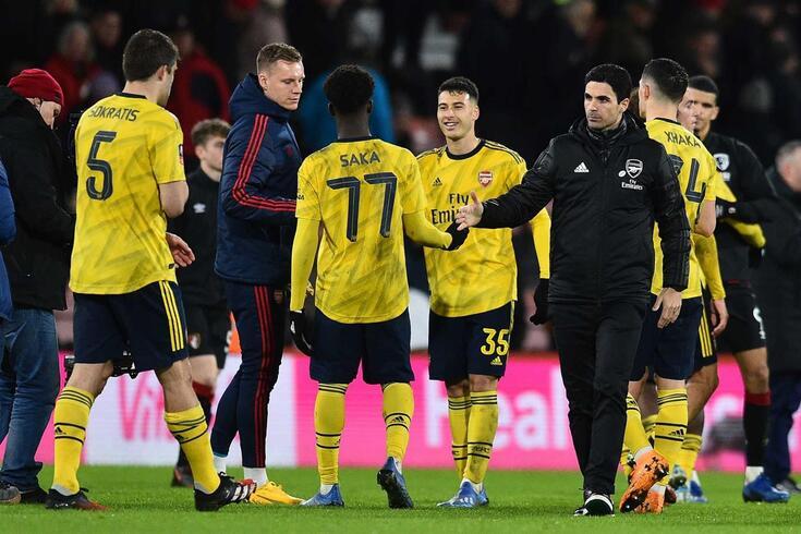 Arsenal bateu o Bournemouth na Taça de Inglaterra