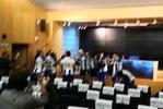 Sérgio Conceição falava na conferência de imprensa e aconteceu isto