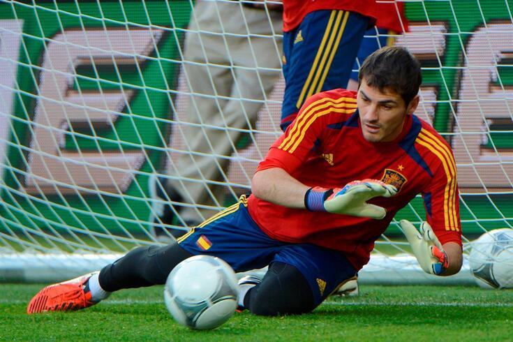 Iker Casillas ao serviço da seleção espanhola