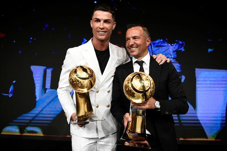 Jorge Mendes com Cristiano Ronaldo