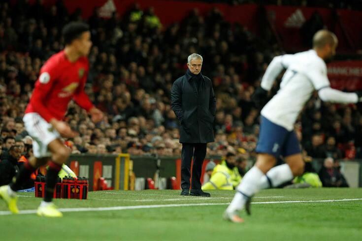 Mourinho regressou a Old Trafford nesta quarta-feira.