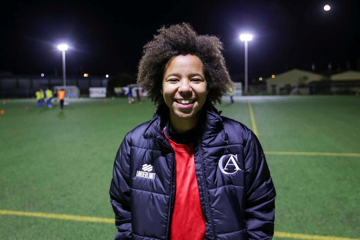 Júlia Mateus, jogadora do Albergaria.