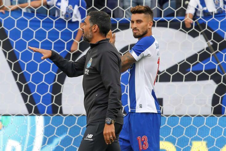 Sérgio Conceição e Alex Telles
