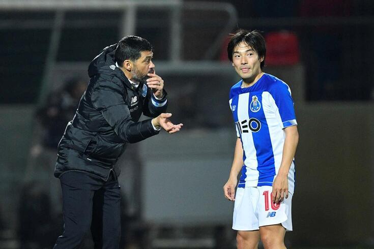 Sérgio Conceição e Shoya Nakajima
