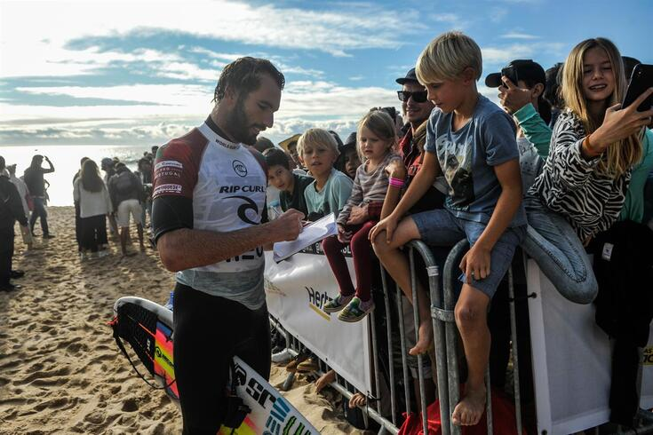 Frederico Morais em convívio com os fãs