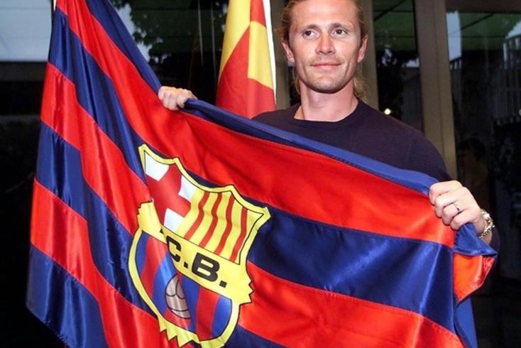 Emmanuel Petit no Barcelona em 2000