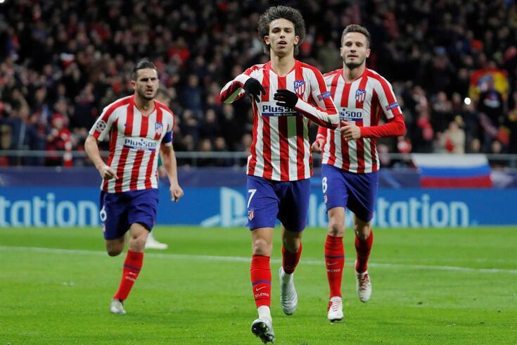 João Félix marcou o primeiro golo do Atlético de Madrid frente ao Lokomotiv