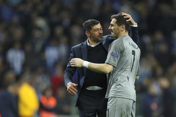 Iker Casillas com Sérgio Conceição