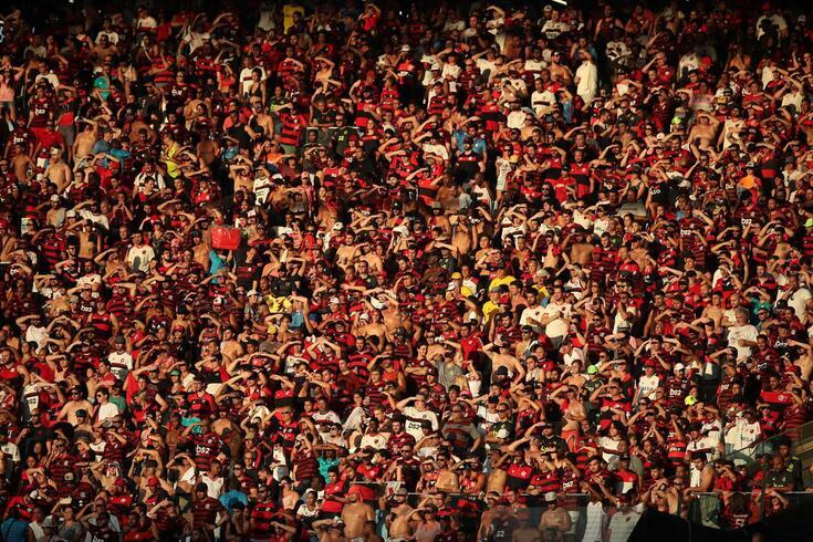 Adeptos do Flamengo no Maracanã.