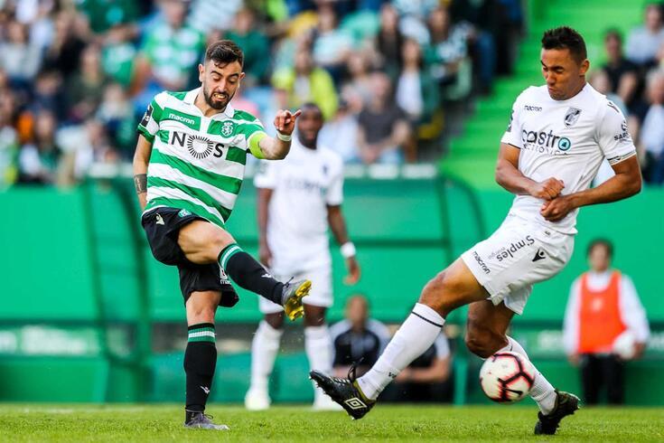 Bruno Fernandes, no Sporting-V. Guimarães.