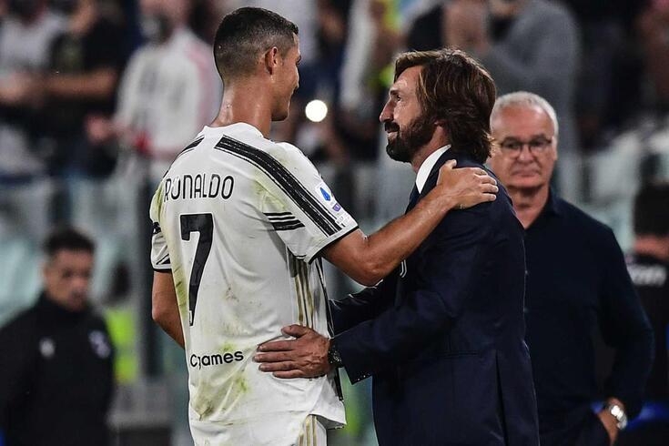 Cristiano Ronaldo e Pirlo