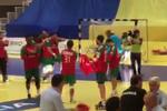 Andebol: a explosão de alegria portuguesa após o apito final na Roménia