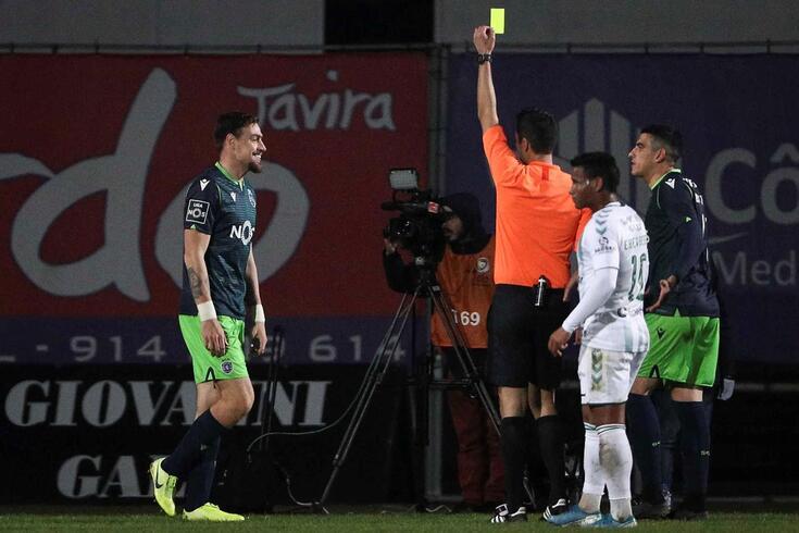 Coates viu cartão amarelo aos 72 minutos do embate frente ao Vitória de Setúbal